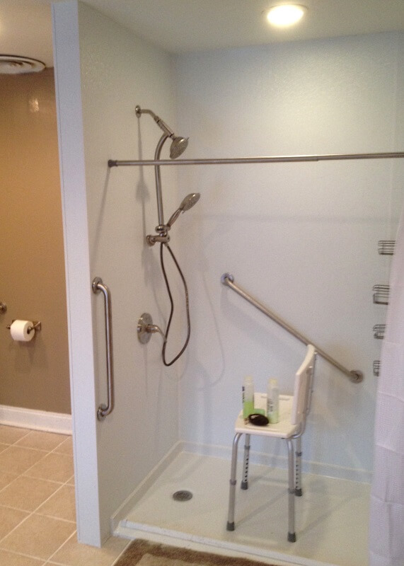 Nick Marcellino and the Amramp Philadelphia team completed this bathroom modification for a client in Elkins Park, PA.