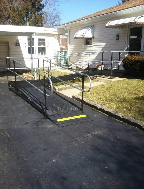 Nick and the Amramp Philadelphia team installed this wheelchair ramp at a Newtown Square, PA home.