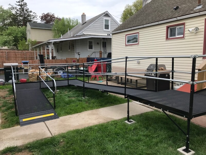 Nick Marcellino and the Amramp Philadelphia team installed this ramp for a veteran in Pottstown, PA.