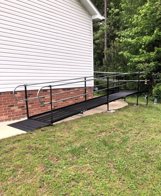 This ramp was installed at a Seaford, DE home in collaboration with the ALS Association.