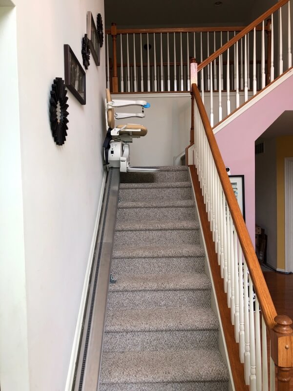 Nick Marcellino and the Amramp Greater PA team installed two stair lifts for a patient in Sicklerville, NJ.