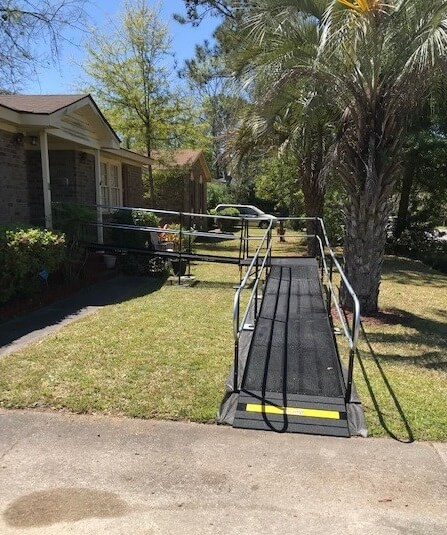 This 30 ft. ramp was installed in Charleston, SC by Allen and the SC team.