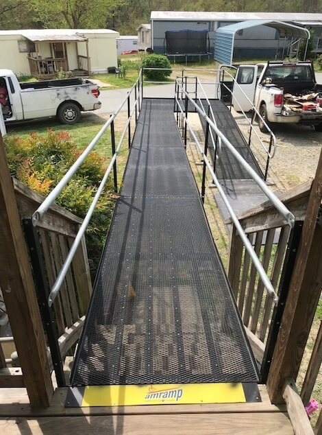 Allen and the Charlotte team installed this 45 ft. ramp for an injured worker in Kernersville, NC.