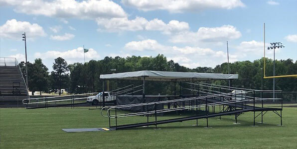Amramp of South Carolina installed these two temporary 48ft ramps for a graduation at Laurens High School in South Carolina. Congratulations to all of the Laurens High School Graduates!