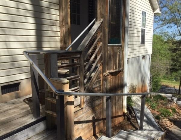 These handrails were installed at a Gastonia, NC home by Allen and the Amramp Charlotte team.
