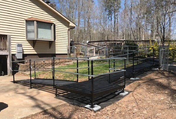 This 53 ft. ramp was installed for an injured worker in Mooresville, NC by Allen and the Charlotte team.