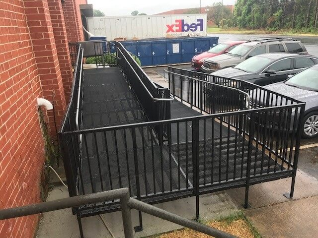 This commercially compliant Amramp PRO was installed by Allen and the Charlotte team in Charlotte, NC.