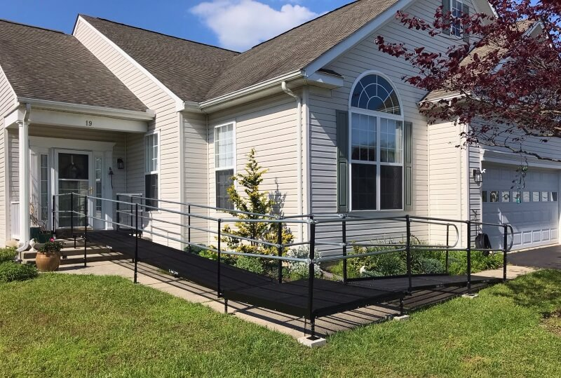 This client near Rehoboth Beach, DE coming home from rehab was able to receive a ramp in just one day thanks to the Amramp Delaware team.