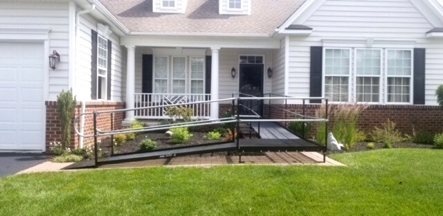 This wheelchair ramp was installed by Nick and the Amramp Greater PA team at a home in Smyrna, DE.