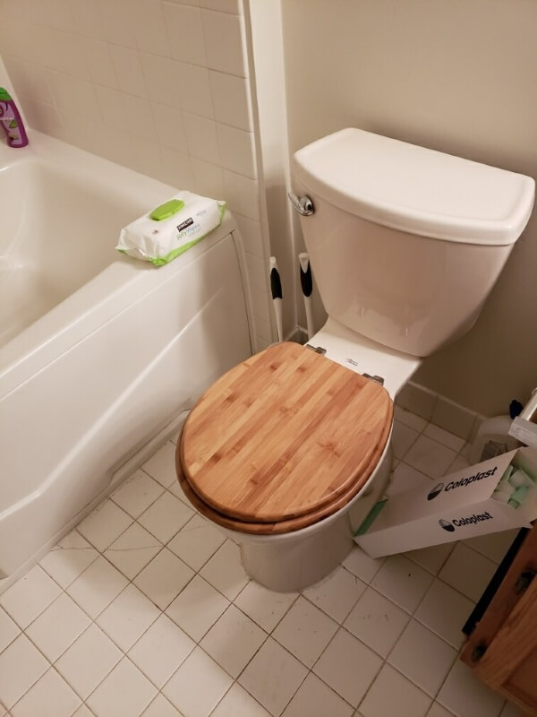 Nick Marcellino and the Amramp Philadelphia team completed this accessible bathroom remodel in Yardley, PA which included a barrier free roll-in shower system and a wheelchair accessible vanity/sink.