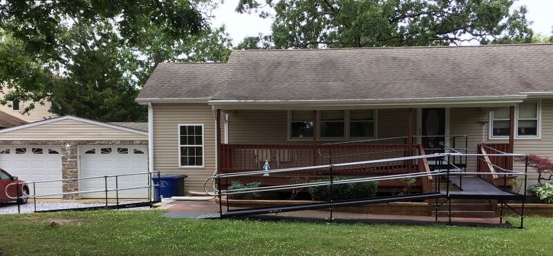 Nick Marcellino and the Amramp Greater Philadelphia team installed this wheelchair ramp at a home in Franklinville, NJ.