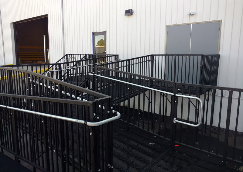 This commercially compliant Amramp PRO system was installed in Raleigh, NC at the BeltLine Center by Dave Wujastyk and the Amramp Eastern North Carolina team.
