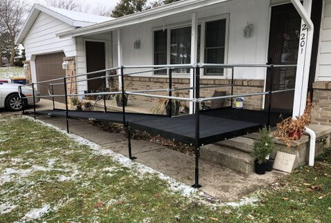 The Amramp Western Michigan team installed their 2000th wheelchair ramp at this home in Grand Rapids, MI.