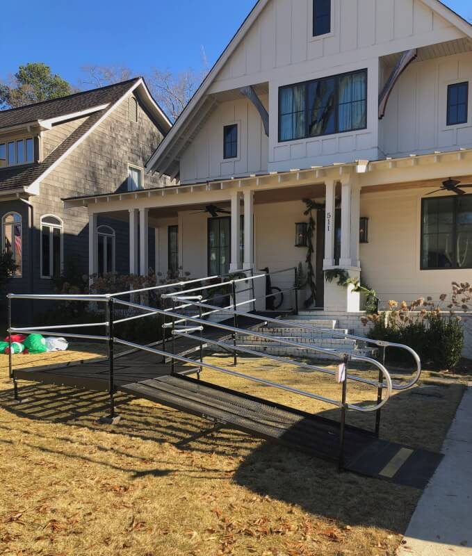 This Homewood, AL home now has a wheelchair ramp thanks to the Amramp Birmingham, AL team.