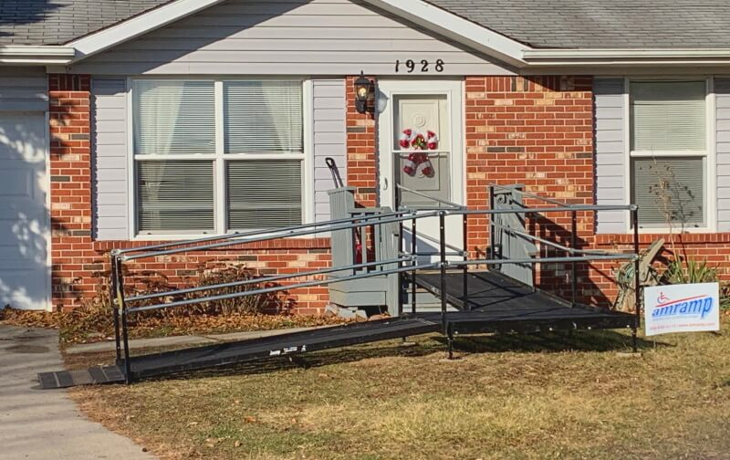 The Amramp Indiana team installed this wheelchair ramp at a Huntington home.