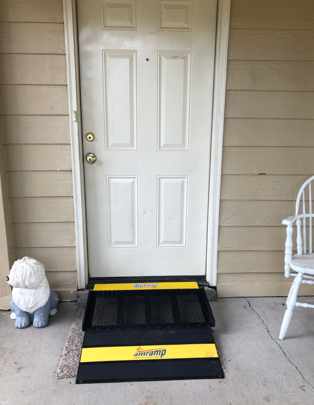 This Millington, Alabama home now has a wheelchair accessible entrance thanks to the Amramp Birmingham team.
