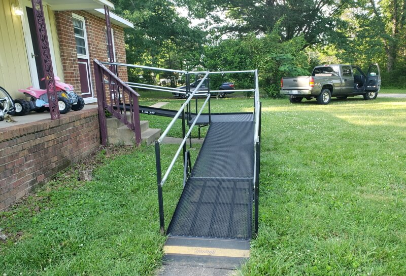 Amramp Richmond installed this wheelchair ramp at a home in Goochland, VA