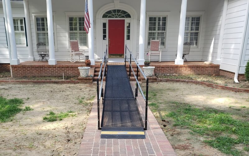 Amramp Richmond installed this modular ramp in Kenbridge, VA.