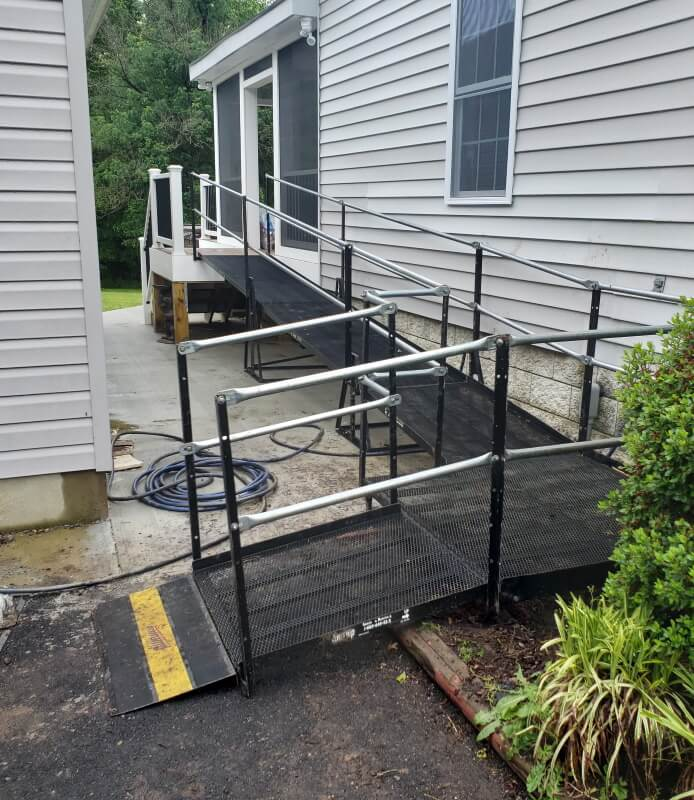 This wheelchair ramp was installed by Amramp Richmond in Mineral, VA.