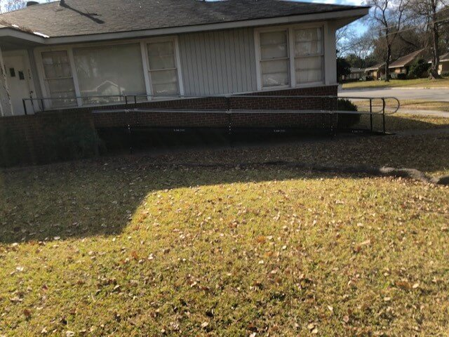 This wheelchair ramp was installed in Carrollton, LA.