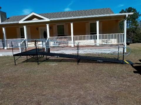 The Amramp Louisiana team installed this ramp in Many, LA.