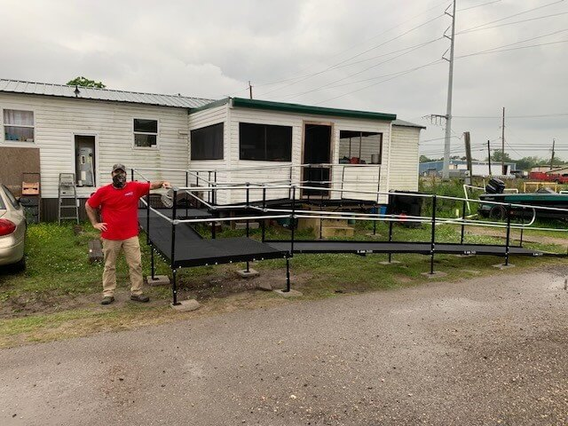 Jimmy Campbell and his Amramp Louisiana team installed this ramp at a home in Belle Chasse, LA.