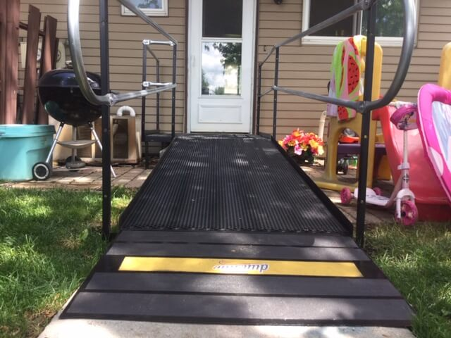 Barb McComb Amramp of Southeastern Wisconsin received a call from father who wanted to place a ramp on his son's house in Germantown, WI. The son had been in a motorcycle accident and was due to be discharged from a rehabilitation facility. The Amramp team completed the evaluation on Monday and installation by noon on Tuesday. The father was very pleased with the fact that the ramp was installed so quickly and exactly as promised. His son will be able to return home Friday and spend his recovery time among family members. Amramp is making life accessible in Southeastern Wisconsin.