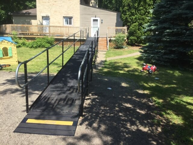 Barb McComb of Amramp Southeastern Wisconsin received a call at just before noon on Tuesday from a person looking for a ramp in Whitewater, WI. They needed the ramp to bring their mother home from the hospital on Friday. Libby McComb went out that same afternoon and completed the evaluation. The 46 foot ramp was installed Thursday morning allowing them to easily get their mother home. Amramp is making life accessible in Southeastern Wisconsin.