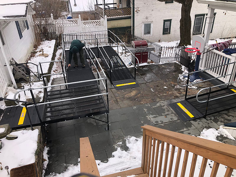 Dave Hoglund and the Amramp Northeastern PA/Central NJ team installed this ramp at a home in Carbondale, PA.