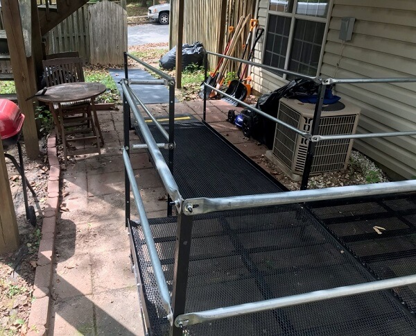 Greg Lazzaroni and the Amramp N. VA & MD team installed this ramp for a happy client in Owings Mills, MD.