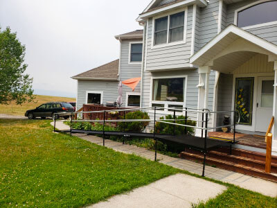 Amramp of Boise and Utah received a lead for Bozeman, MT on July 9th. A proposal was sent the same day. We received approval on the 9th, and the ramp was installed on the 13th, ready for the customer to arrive home from rehab!